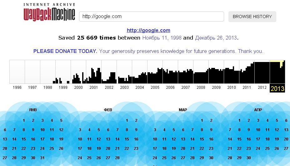 как выглядел Google в 1998