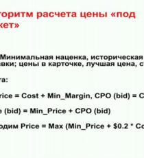 Установление цены для ЯМ